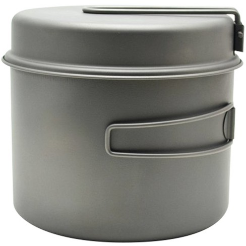TOAKS Titanium Outdoor Camping Cook Pot with Pan and Foldable Handles - image 1 of 2