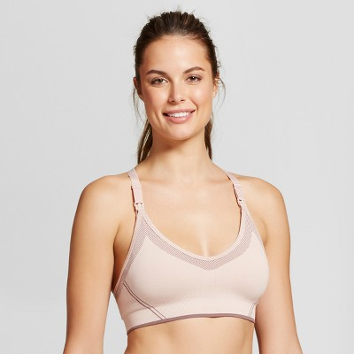 Women's Nursing Yoga Bra - Gilligan & O'Malley™ - Palm Beach Pink S