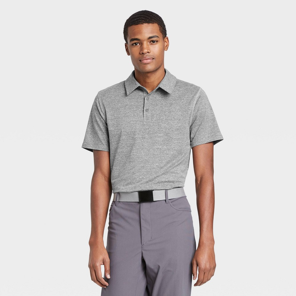 Men 39 S Jersey Golf Polo Shirt All In Motion 8482 Gray Xxl