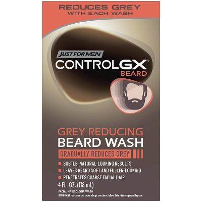 Just For Men Control GX Gray Reducing Beard Wash - 4 fl oz