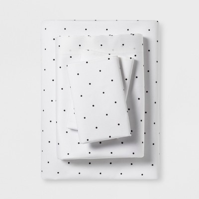 Queen Sheet Set Black Simple Dot (ETA)- Project 62™+ Nate Berkus™