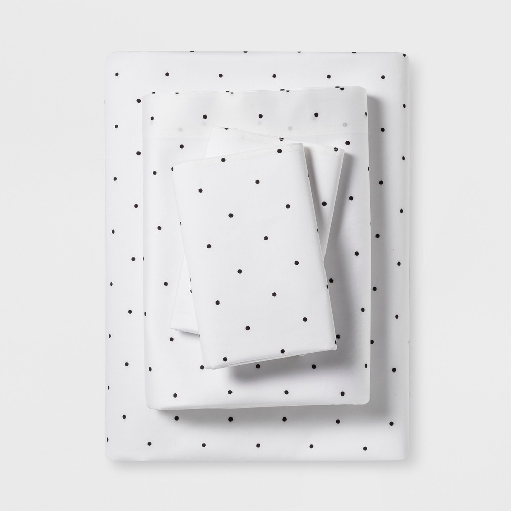 Twin Sheet Set Black Simple Dot (Eta) - Project 62+ Nate Berkus