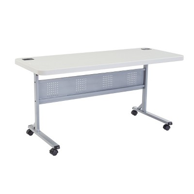 """24""""x60"""" Flip-N-Store Training Table - National Public Seat"""