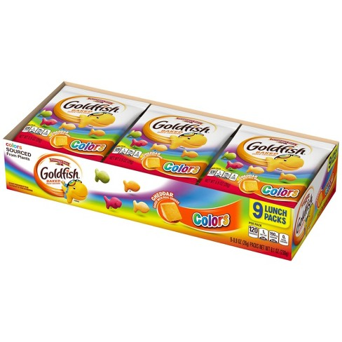 Pepperidge Farms Goldfish Colors Cheddar Crackers - .9oz/9ct - image 1 of 4