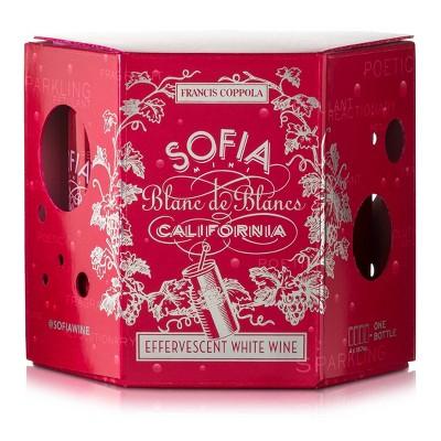 Francis Coppola Sofia Mini Blanc De Blancs White Wine - 4pk/187ml Cans