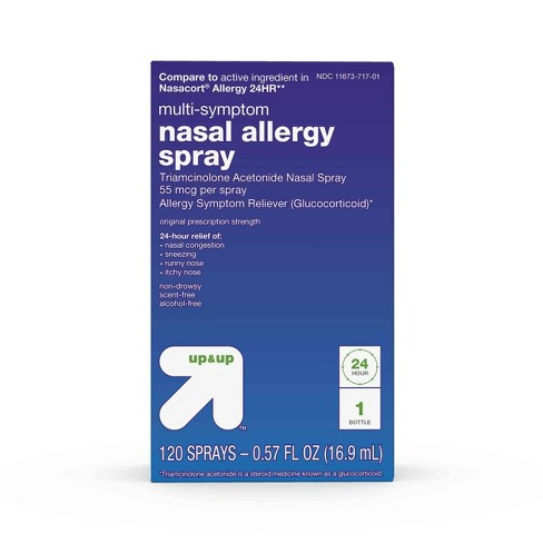 Triamcinolone Acetonide Multi-Symptom Nasal Allergy Relief Spray - (Compare to Nasacort Allergy 24 Hour) - Up&Up™ - image 1 of 5