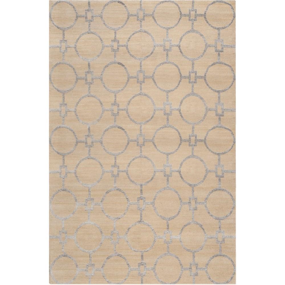 6'X9' Geometric Knotted Area Rug Beige/Light Gray - Safavieh
