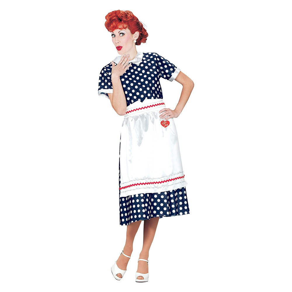 Image of Halloween Women's I Love Lucy Polka Dot Dress Costume L, Size: Large, MultiColored