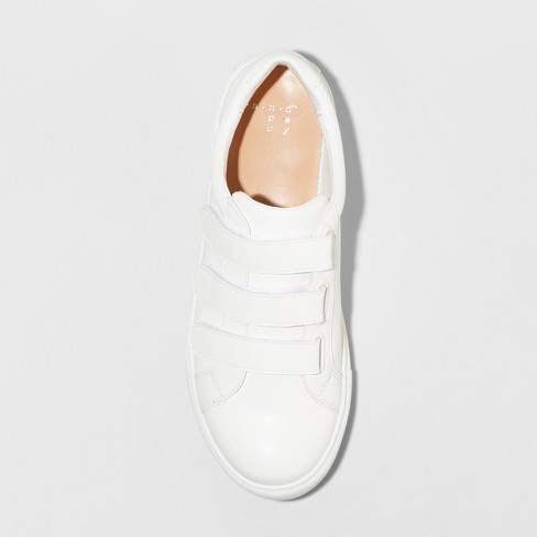 819bd4637eb Women s Whitney Wide Width Triple Strap Sneakers - A New Day™ White 12W    Target