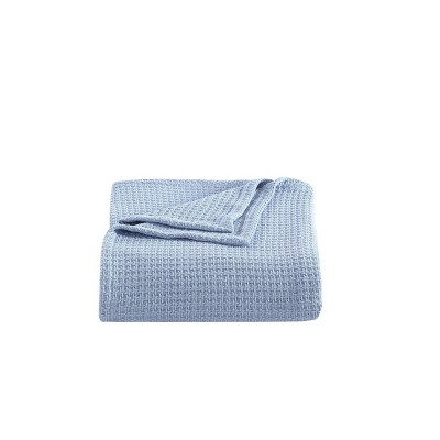 Woven Solid Bed Blanket Coast Blue - Tommy Bahama