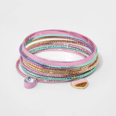 Girls' 8pk Bangle Bracelet Set - Cat & Jack™ - image 1 of 1