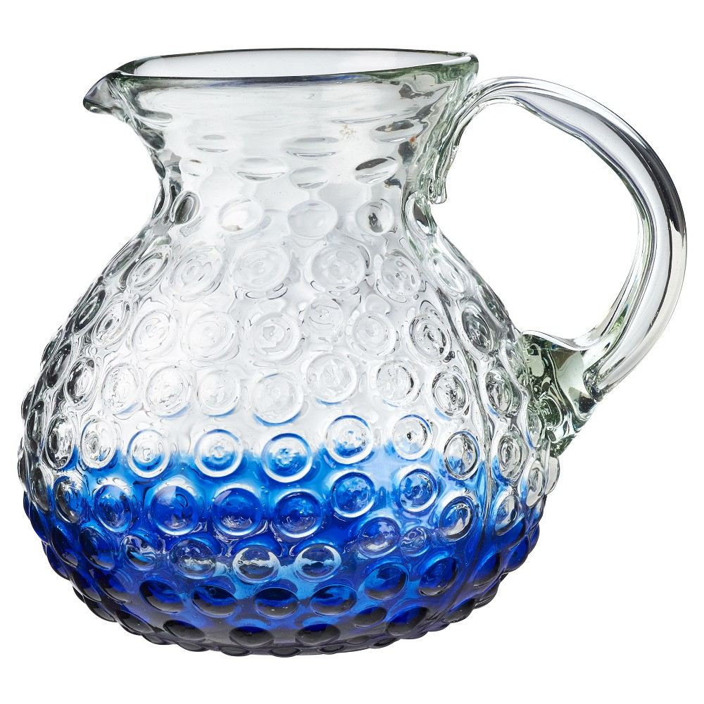 Global Amici Catalina Ombre Hobnail Pitcher Cobalt