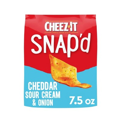Cheez-It Snap'd Cheddar Sour Cream & Onion Crackers - 7.5oz