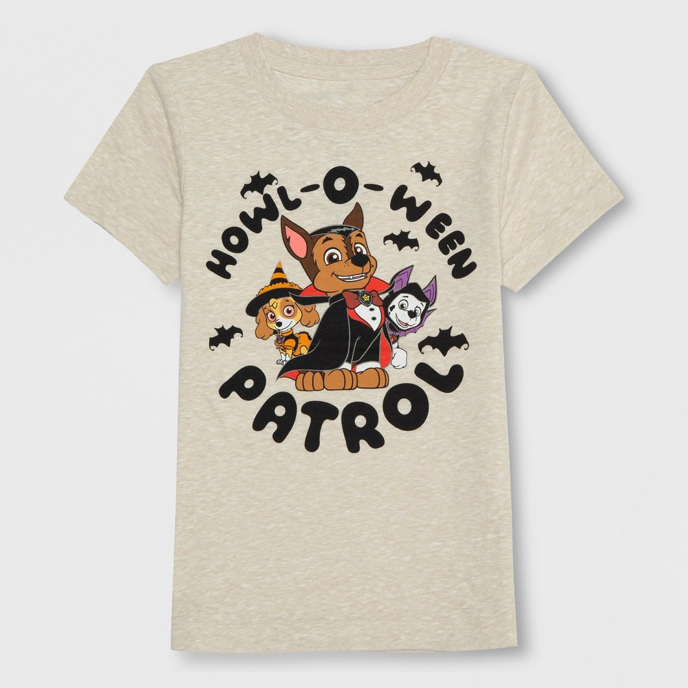 Toddler Boys' Paw Patrol Short Sleeve T-Shirt - Beige 2T