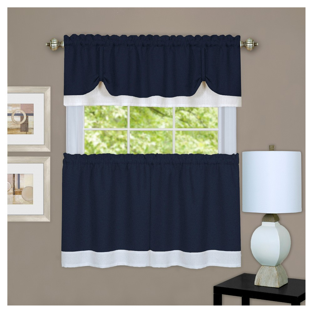 Darcy Tier and Valance Set Navy (Blue)/White (58