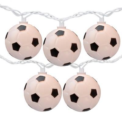 Northlight 10 Soccer Balls Summer Patio Novelty String Lights - 8.5 ft White Wire
