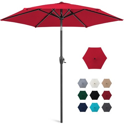 Best Choice Products 7.5ft Heavy-Duty Outdoor Market Patio Umbrella w/ Push Button Tilt	Easy Crank Lift