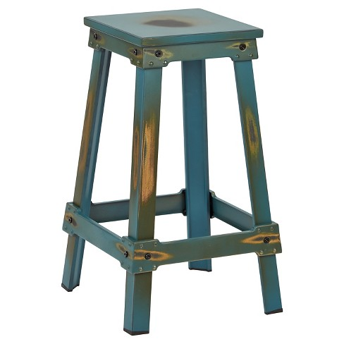 "26"" New Castle Barstool Antique Turquoise - OSP Home Furnishings - image 1 of 4"