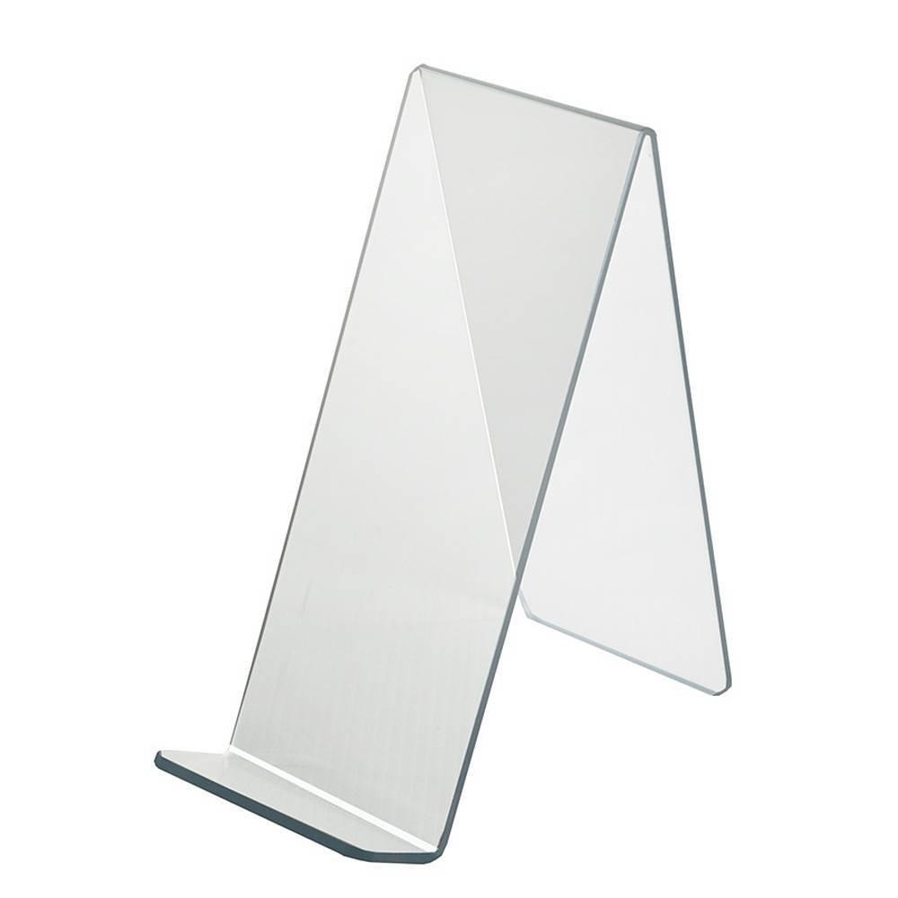 Azar Displays 4 5 X 9 5 X 10 5 10pk Acrylic Easel With 1 75 Front Lip