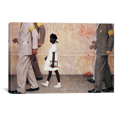 The Problem We All Live With (Ruby Bridges) by Norman Rockwell Canvas Print
