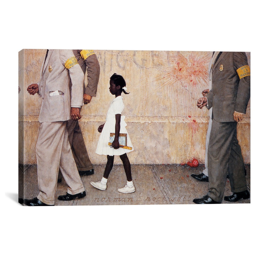 The Problem We All Live With (Ruby Bridges) by Norman Rockwell Canvas Print (18
