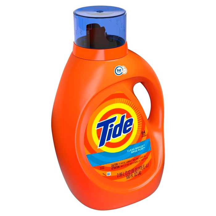 Tide Clean Breeze Liquid Laundry Detergent - 100 fl oz - image 1 of 3