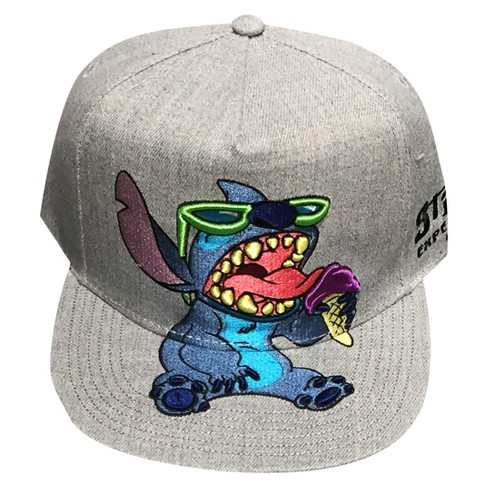f1f83773b3a Men s Lilo   Stitch Adjustable Flat Visor Baseball Cap With Embroidery -  Fancy Heather One Size   Target