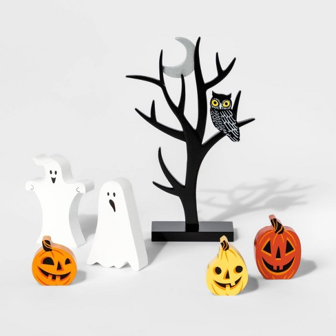 Mini Mantle Pumpkin and Ghost Halloween Accessory Set - Hyde & EEK! Boutique™ - image 1 of 1