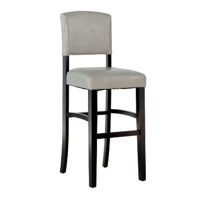 Morocco Upholstered Bar Stool Gray - Linon