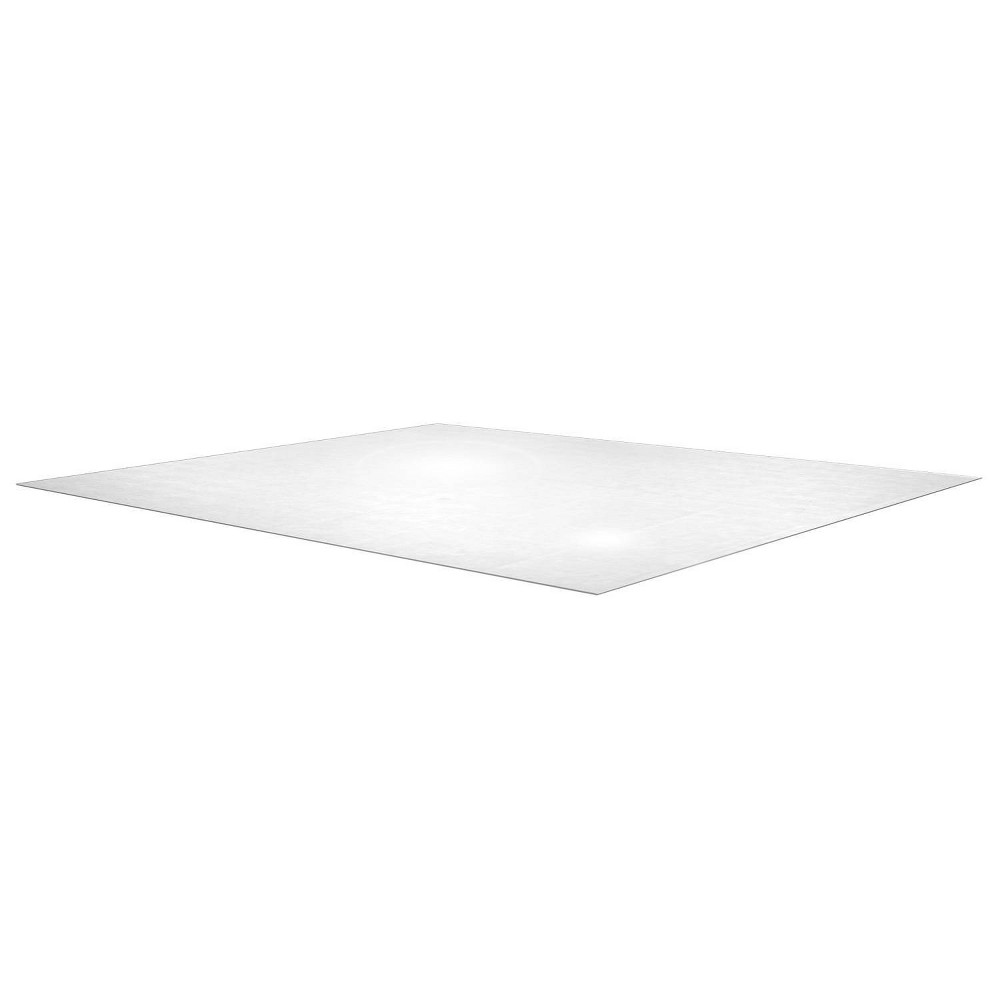 60 34 X79 34 Polycarbonate Chair Mat For Carpets Rectangular Clear Floortex