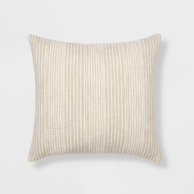 ™Euro Textured Striped Decorative Throw Pillow Natural - Threshold™