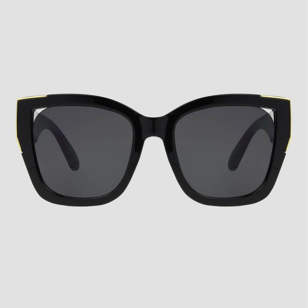 Women 39 S Oversized Square Sunglasses With Gold Accents A New Day 8482 Black