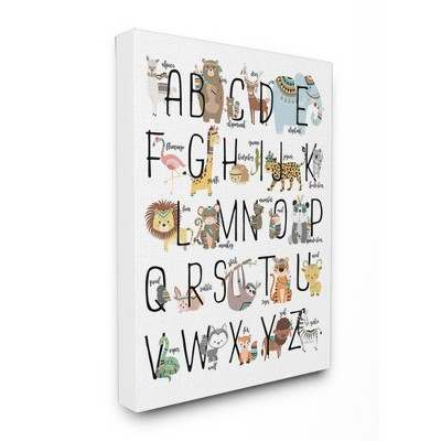 16 x1.5 x20  Boho Animal Abc's Stretched Canvas Wall Art - Stupell Industries