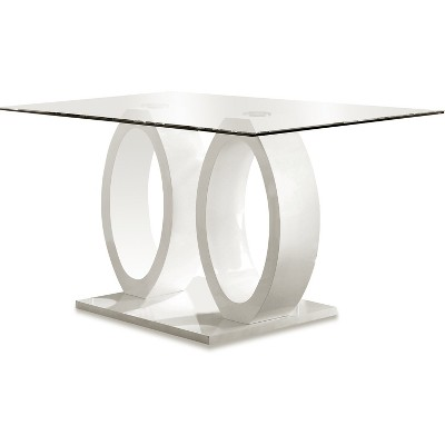 """30"""" SpeareltonDouble Oval Pedestal Dining Table White - HOMES: Inside + Out"""