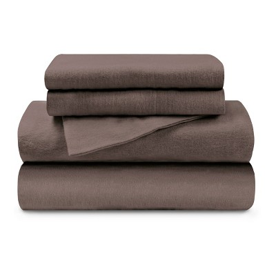 Warm and Cozy Cotton Flannel Solid Deep Pocket Sheet Set - Blue Nile Mills