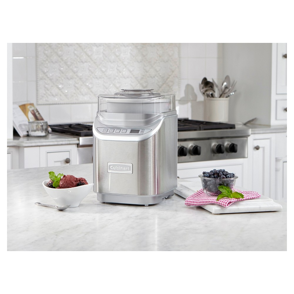 Cuisinart Electronic Ice Cream Maker – Stainless Steel Ice-70, Silver 51234672