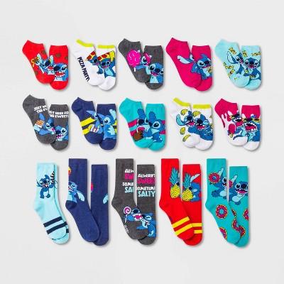 Women's Lilo & Stitch 15 Days of Socks Advent Calendar - Assorted Colors 4-10
