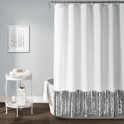Mermaid Sequins Spa Shower Curtain - Lush Décor