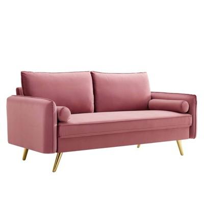 Revive Performance Velvet Sofa Dusty Rose - Modway