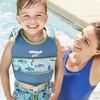 Aqua Leisure SwimSchool 2 to 4 Years 2 Piece Swim Trainer, Small/Medium, Aqua - image 2 of 3