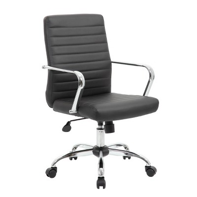 Task Chair with Fixed Arms Black - Boss Office Products