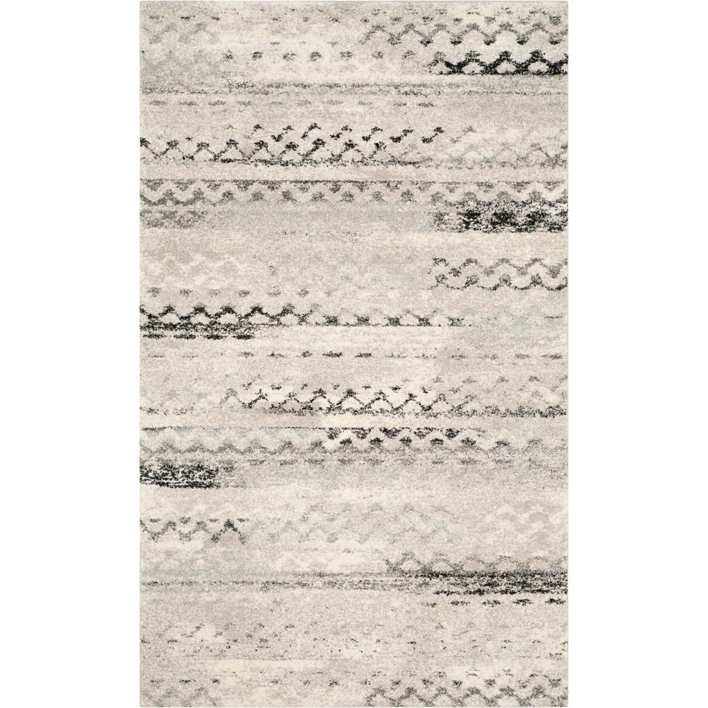 Geometric Loomed Area Rug Cream/Gray