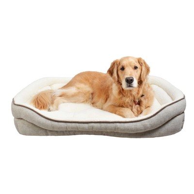 Double Bolster Bed for Dog - XL - Boots & Barkley™