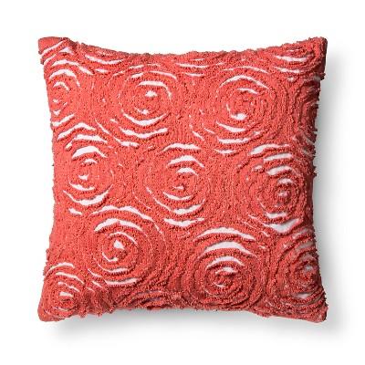 Rosette Throw Pillow (18 x18 )Pink - Pillowfort™