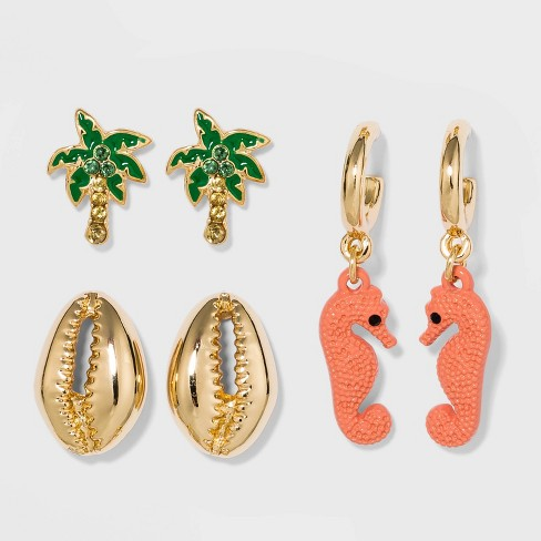 SUGARFIX by BaubleBar Tropical Delicate Earring Set - Gold - image 1 of 2