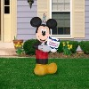 Gemmy Airblown Inflatable Birthday Party Mickey Mouse with Cake, 3.5 ft Tall, black - image 2 of 2