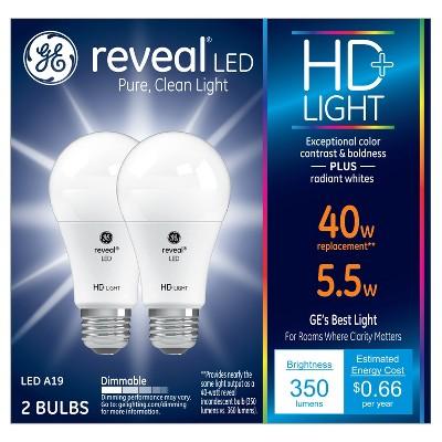 Reveal Hd 40Watt Equivalent A19 LED 2pk