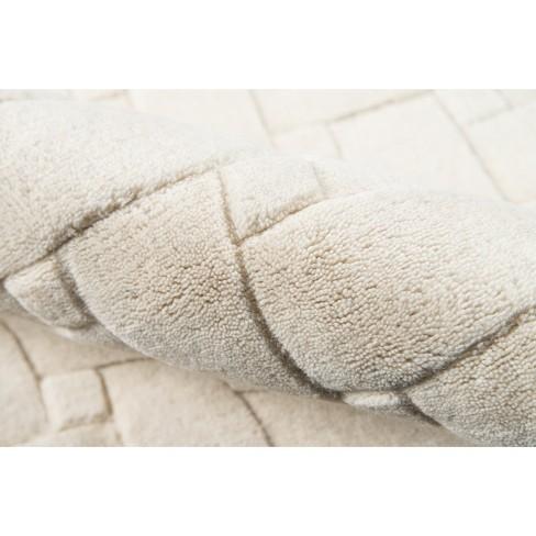 Ivory Basketweave 100 Wool Area Rug 5x8 Momeni Target