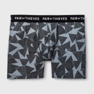 Pair of Thieves Men's UltraLight Boxer Briefs - Gray L