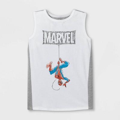 Boys' Marvel Spider-Man Tank Top - White